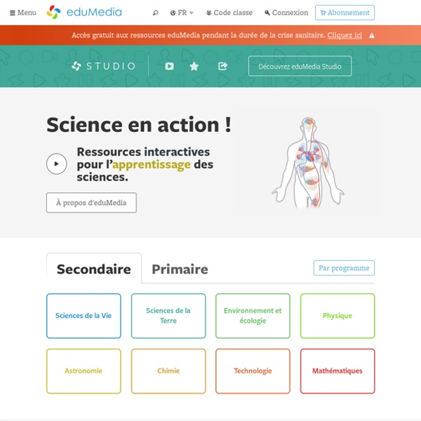 Animations SVT Physique Chimie eduMedia