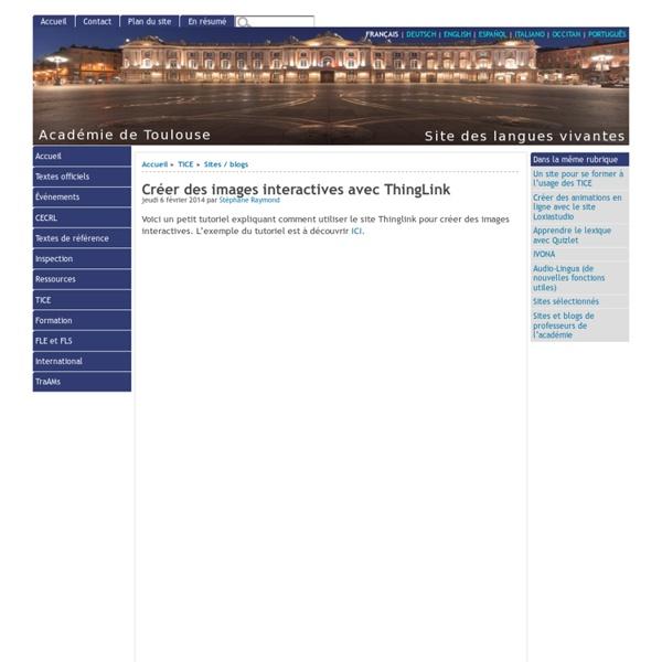 Créer des images interactives avec ThingLink - [Site des langues vivantes de l'Académie de Toulouse]