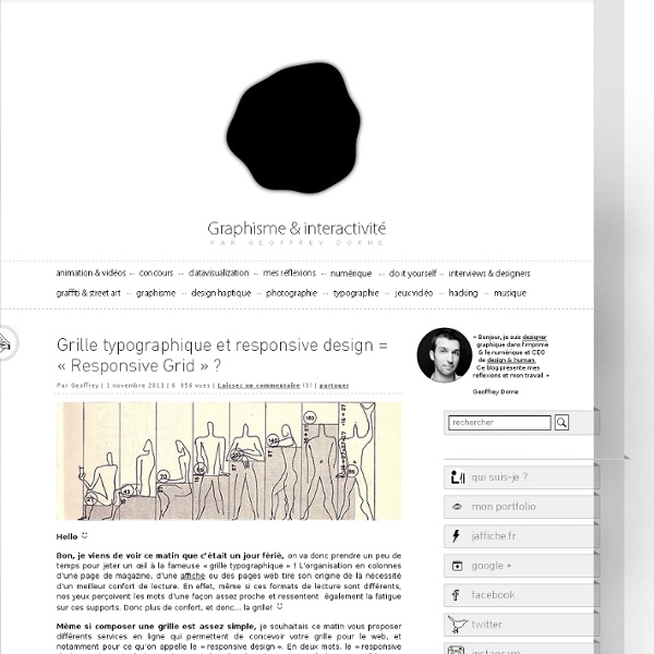 Grille typographique et responsive design = «Responsive Grid» ?