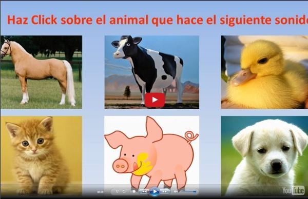 Juego interactivo con los sonidos de animales