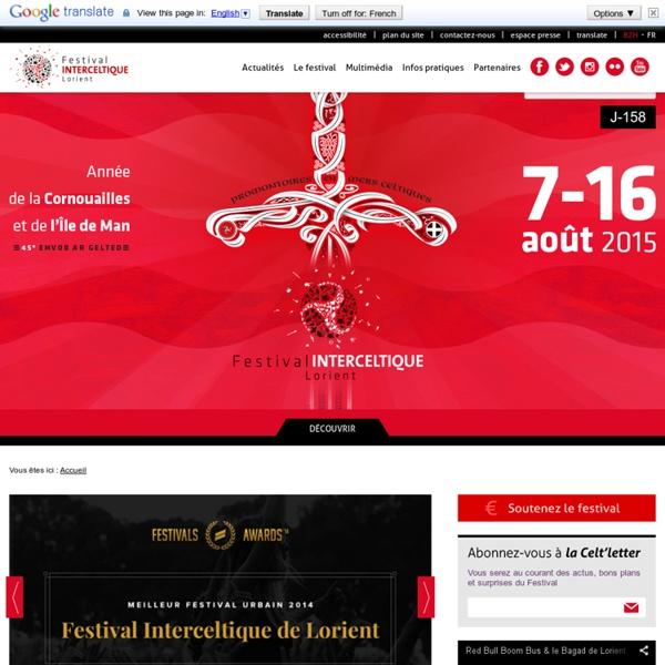 43e Festival Interceltique de Lorient - du 2 au 11 août 2013 - Année des Asturies