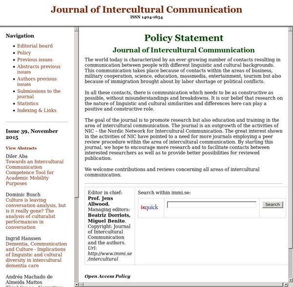 Journal of Intercultural Communication