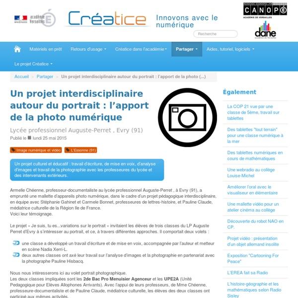 Un projet interdisciplinaire autour du portrait : l'apport de la photo numérique