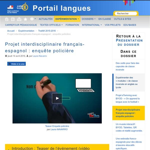 Projet interdisciplinaire français-espagnol : enquête policière