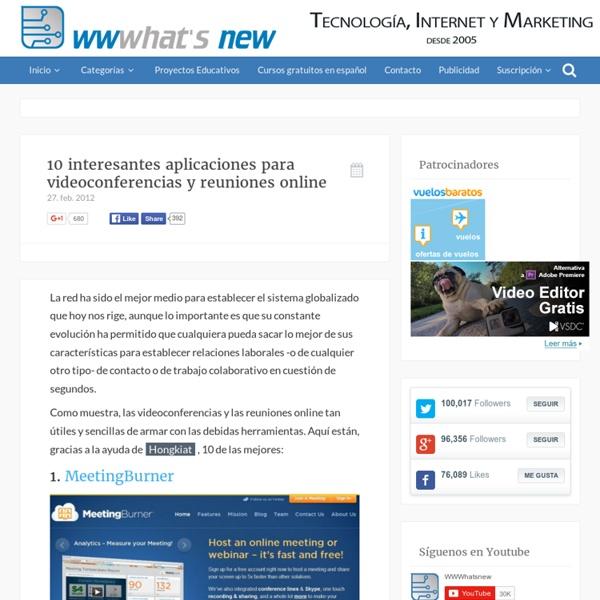 10 interesantes aplicaciones para videoconferencias y reuniones online