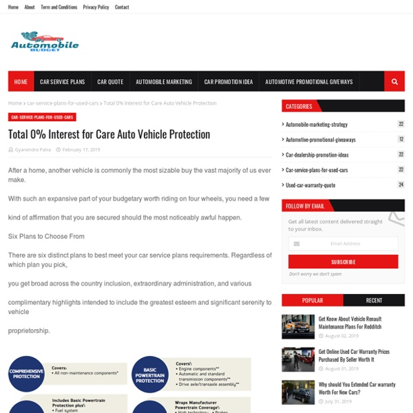 Total 0% Interest for Care Auto Vehicle Protection