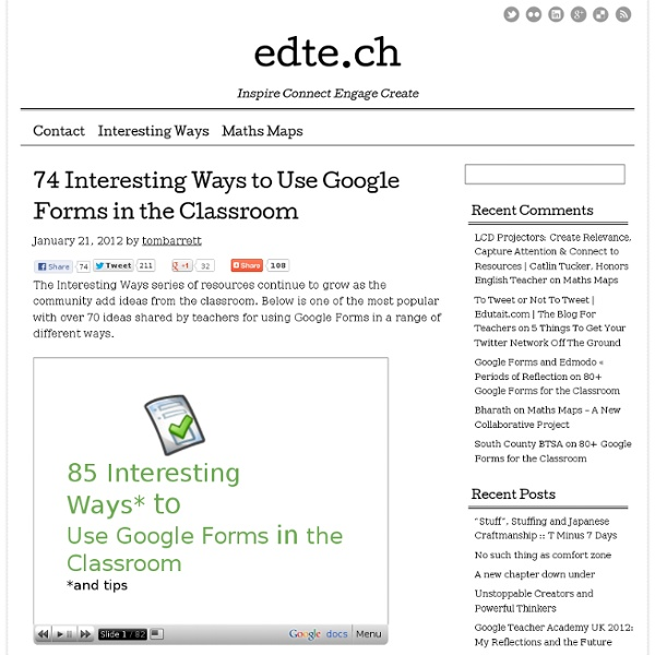 74 Interesting Ways to Use Google Forms in the Classroom