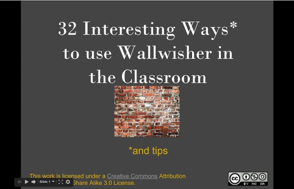 32 Interesting Ways to Use Wallwisher in the Classroom