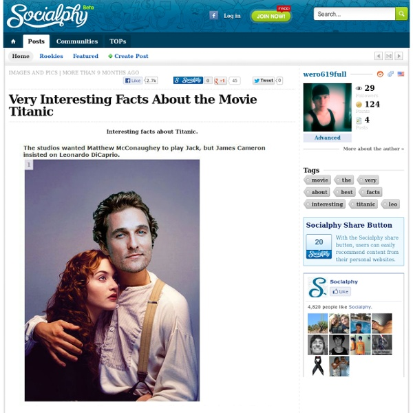 Very Interesting Facts About The Movie Titanic | Pearltrees
