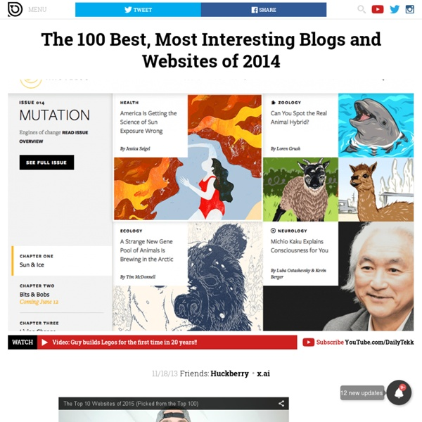 The 100 Best, Most Interesting Blogs and Websites of 2014