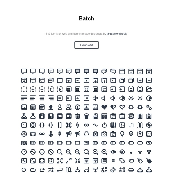 300+ Icons for Web & User Interface Design