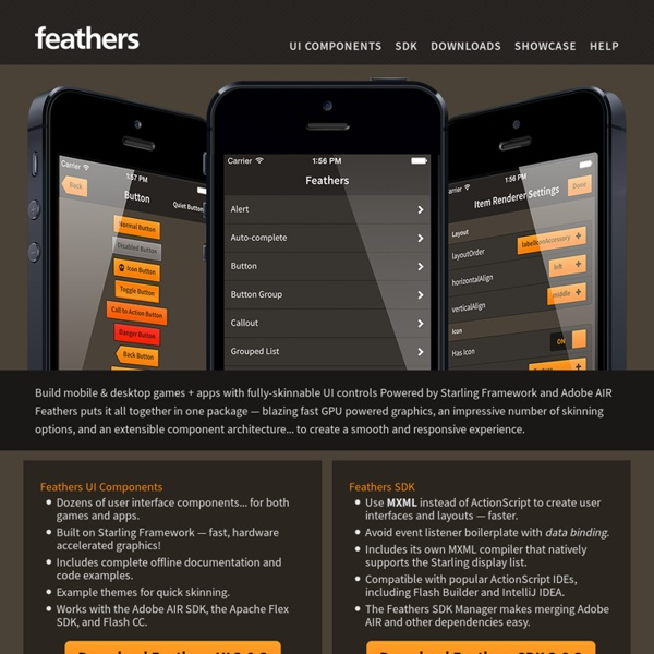 Feathers - Build user interfaces for games and applications with Feathers