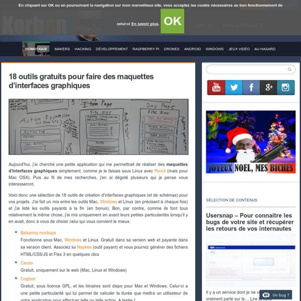 18 outils gratuits pour faire des maquettes d'interfaces graphiques