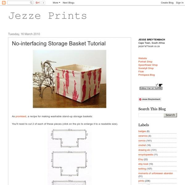No-interfacing Storage Basket Tutorial