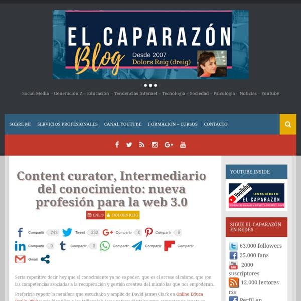 Content curator, Intermediario del conocimiento: nueva profesión para la web 3.0