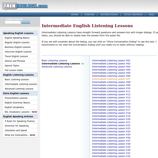 Intermediate Listening English Lessons with Native English Speakers