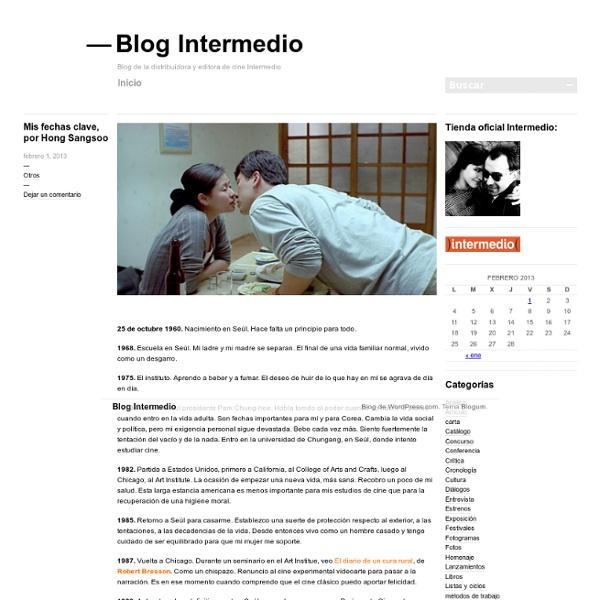 Blog de la distribuidora y editora de cine Intermedio