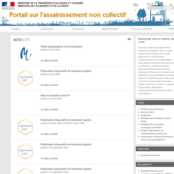 Site interministériel sur l'assainissement non collectif