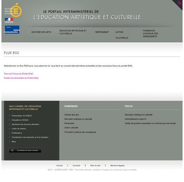 RSS Portail interministériel EAC