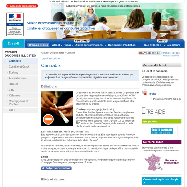 Cannabis sur drogues.gouv.fr