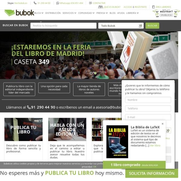Publicar un libro - Publicar libros gratis con Bubok
