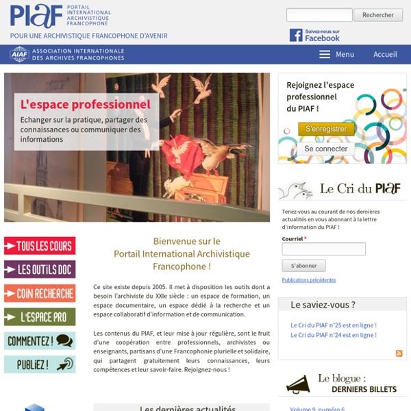 PIAF - Portail International Archivistique Francophone