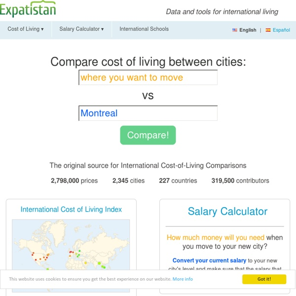International Cost of Living Comparisons