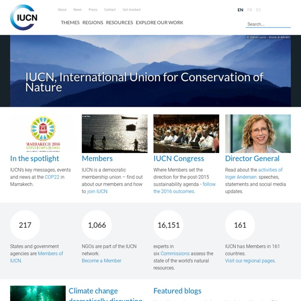 International Union for Conservation of Nature - IUCN
