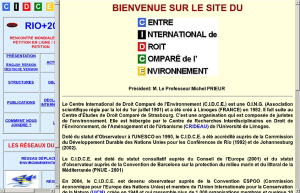 Centre International de Droit Comparé de l'Environnement - C.I.D.C.E.