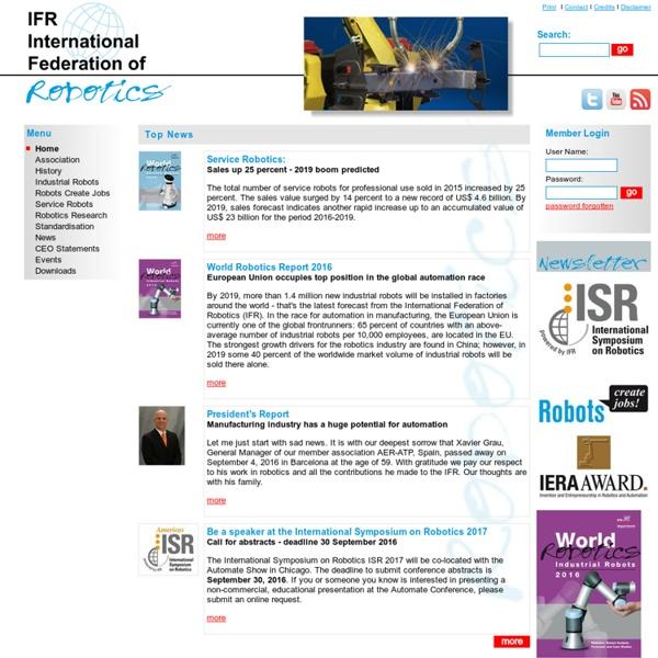 Home- IFR International Federation of Robotics
