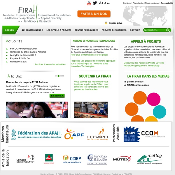 FIRAH - International Foundation of Applied Disability Research