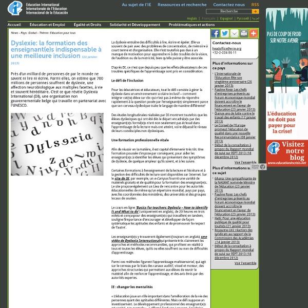 Dyslexie: la formation des enseignant(e)s indispensable à une meilleure inclusion
