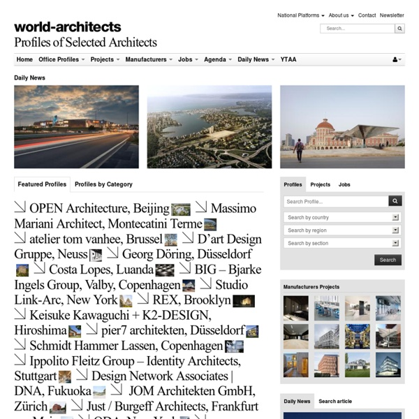 International architecture profiles, projects, manufacturers