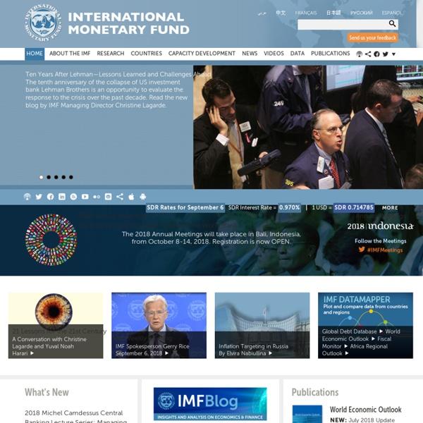 International Monetary Fund Home Page