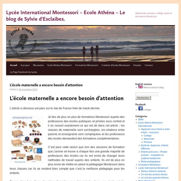 Le BONHEUR de s'épanouir à l'ECOLE www.lyceeinternationalmontessori.fr Ecole fondée en 1991.