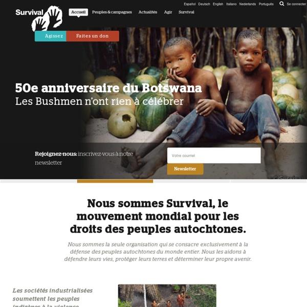 Survival International : e mouvement pour les peuples indigènes