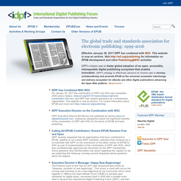 Trade and Standards Organization for the Digital Publishing Industry