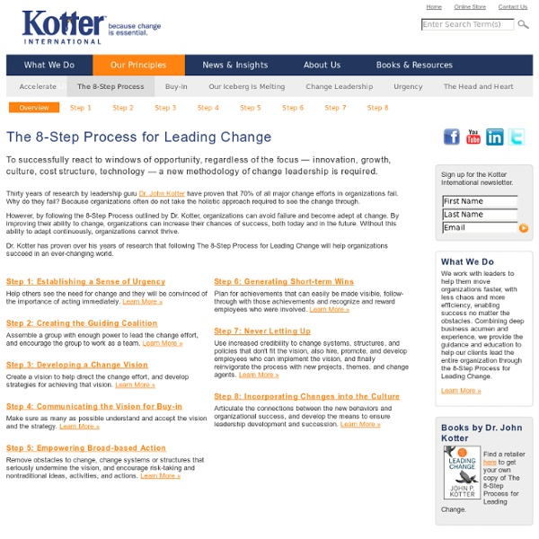 Kotter International - The 8-Step Process for Leading Change