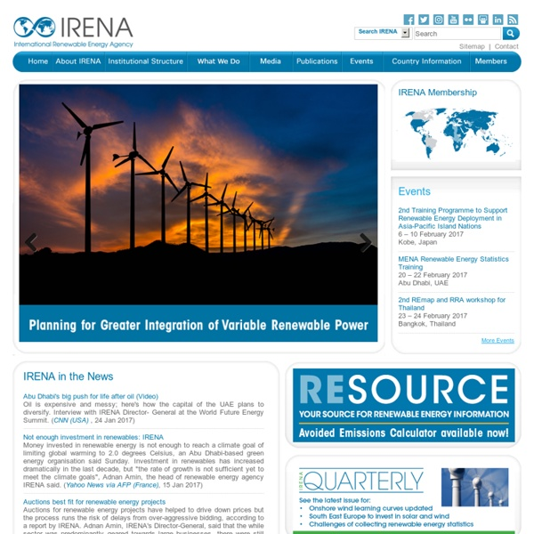 Welcome to IRENA