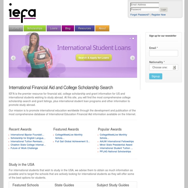 International Financial Aid College Scholarship Search