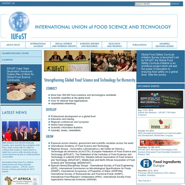 IUFoST International Union of Food Science and Technology