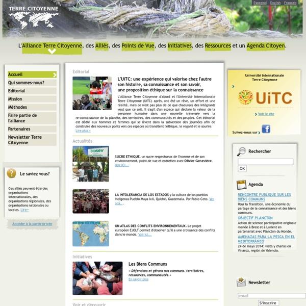 Alliance internationale Terre Citoyenne - AiTC : Accueil