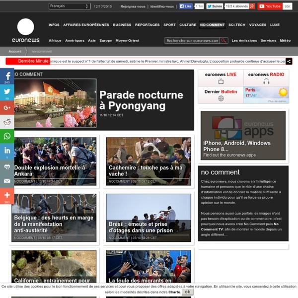 Euronews : l'actualité internationale en image et sans commentaires