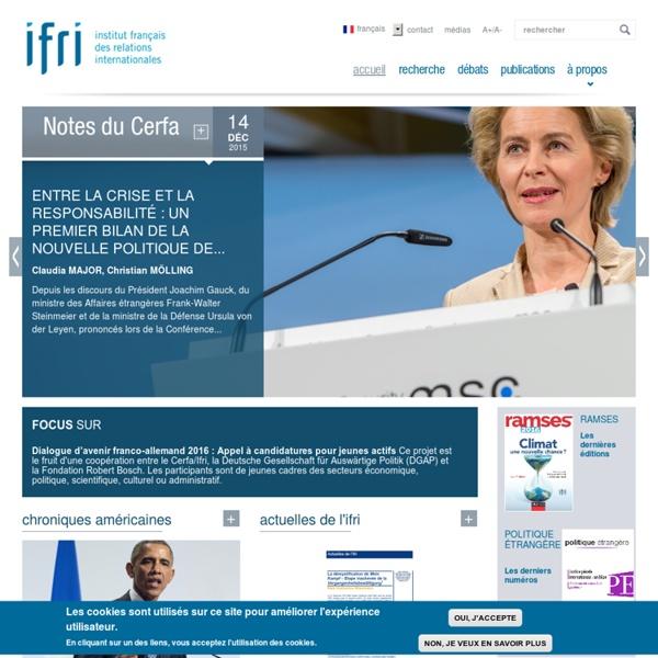 Institut de recherche et de débat indépendant, consacré à l'analyse des questions internationales et de gouvernance mondiale.