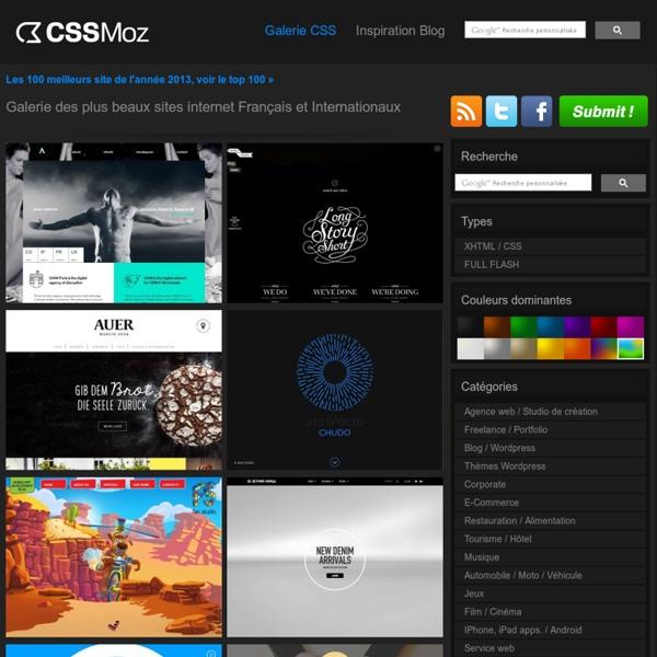 Galerie des plus beaux sites web Français et Internationaux » Web Design Inspiration » CSS Gallery » Jolis sites