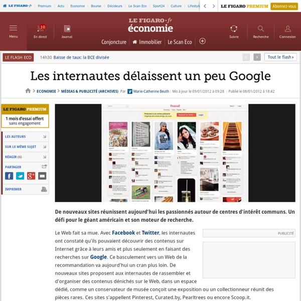 Médias & Publicité : Les internautes délaissent un peu Google