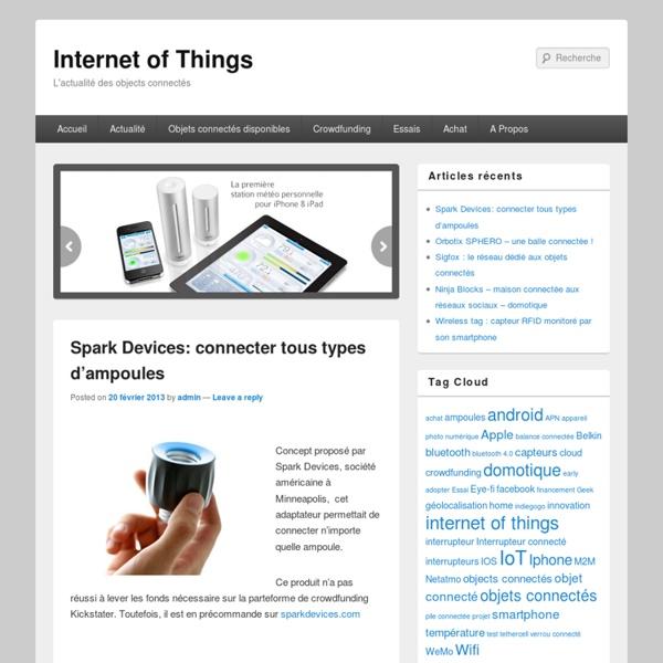 Internet of Things : Actualité des Objets Connectés en France