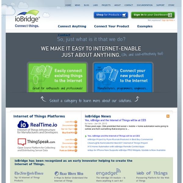 Internet of Things Application Platform - ioBridge