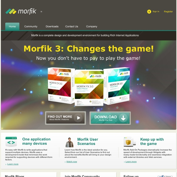 Build Ajax-based Rich Internet Applications - Morfik