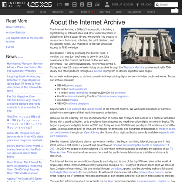 Internet Archive: About IA